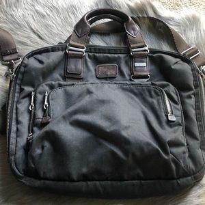 Tumi Nylon Leather Laptop Messenger Bag